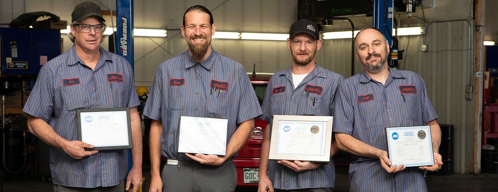 Antonelli's Advanced Automotive repair shop certified mechanics.